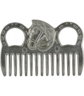YORK Grzebień metalowy z końską głową