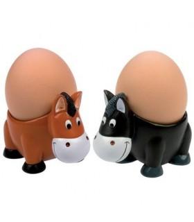 HAPPY ROSS Podstawki pod jajka w kształcie koni 2 sztuki