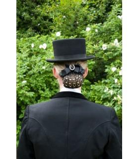 HAPPY ROSS Siatka na włosy z kryształkami i broszką